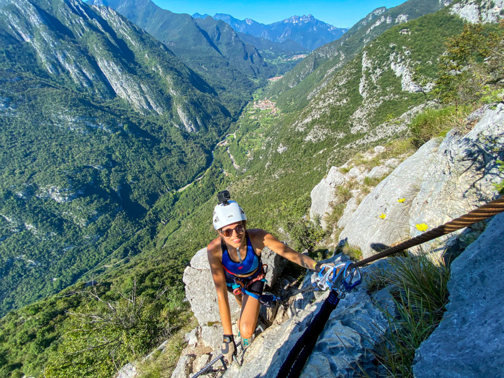 Widok na Val di Ledro z Via ferraty Susatti
