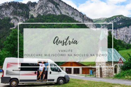 Austria Vanlife - okładka wpisu, Ewa i Marcin stoją przy vanie, w tle są góry, a obok kapliczka